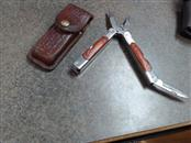 SHEFFIELD Pocket Knife MULTI TOOL w/ leather Sheath
